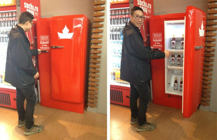 Scan your passport for a cold one: Canadian beer fridge is an Olympic hit