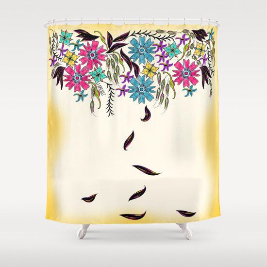 Shabby chic shower curtain, floral shower curtain, 71x74 inch shower curtain, Decorative bathroom decor, Home Interior Decoration by Famenxt on Etsy https://www.etsy.com/listing/250394951/shabby-chic-shower-curtain-floral-shower