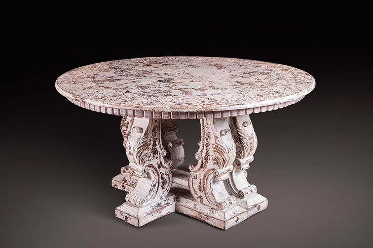 Hand-Carved Moon Table H 33 in. x W 63 in. x D 63 in.