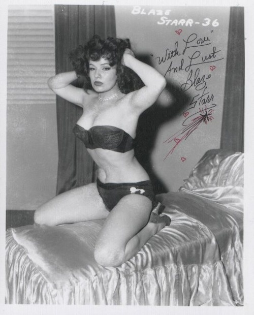 Striptease and burlesque performer, Blaze Starr. 1950s