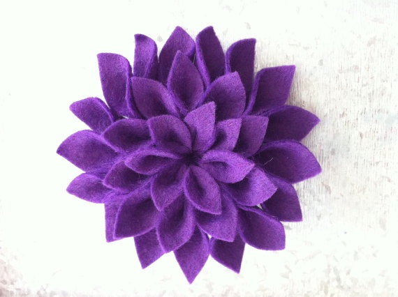 Purple Dazzling Dahlia Brooch by TheGentleFlower on Etsy