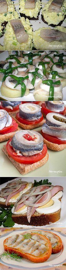 Рецепты приготовления бутербродов с селедкой