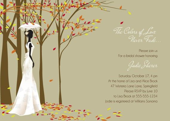 Fall in Love  Autumn themed Bridal Shower by Whirlibird on Etsy, $12.99
