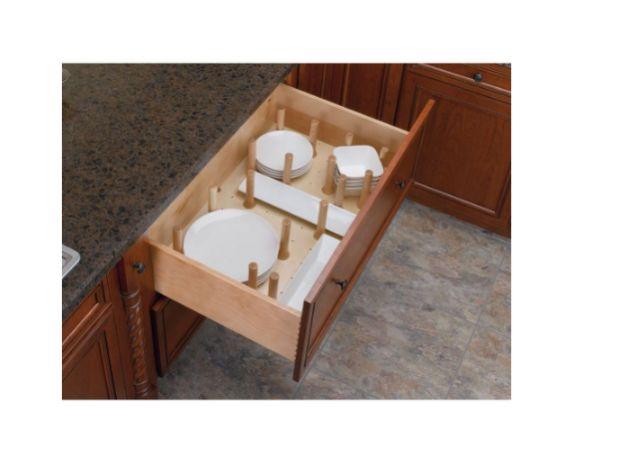 Peg Board Kitchen Drawer Dividers Organizer Medium Wood Cabinet Pegboard System