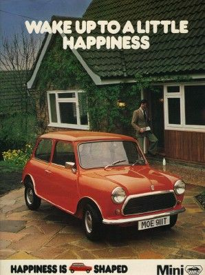 Mini advert vintage -really want one now! Mini's make you happy!