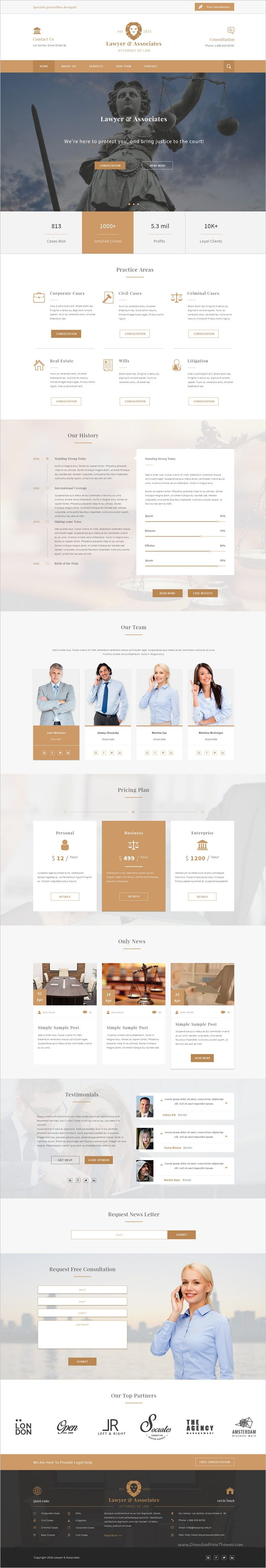 Lawyer and Associates is a wonderful premium #Photoshop #template for Attorney and #law #firms website download now➩ https://themeforest.net/item/lawyer-associates-attorney-law-company-psd/18430271?ref=Datasata