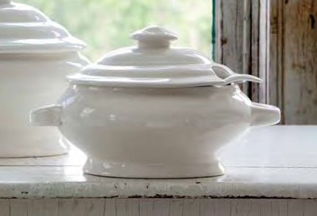 Large Creamware Soup Tureen - From Antiquefarmhouse.com - http://www.antiquefarmhouse.com/current-sale-events/ceramic3/soup-tureen.html
