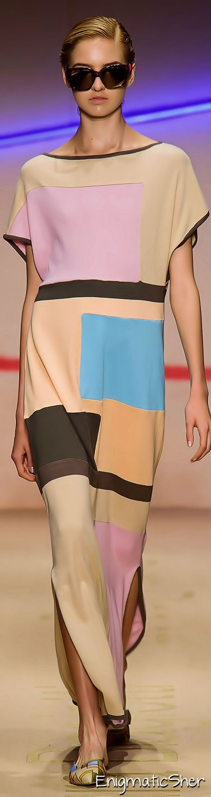 Laura Biagiotti Spring Summer 2015 Ready-To-Wear - what a fun dress to throw over a bathing suit at the hotel pool.