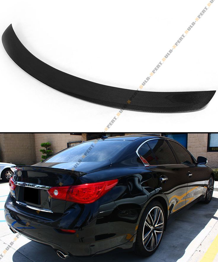 Awesome Amazing FITS FOR 2014-2016 INFINITI Q50 VIP SPORT CARBON FIBER TRUNK BOOT SPOILER WING  2018 Check more at http://24cars.cf/my-desires/amazing-fits-for-2014-2016-infiniti-q50-vip-sport-carbon-fiber-trunk-boot-spoiler-wing-2018/