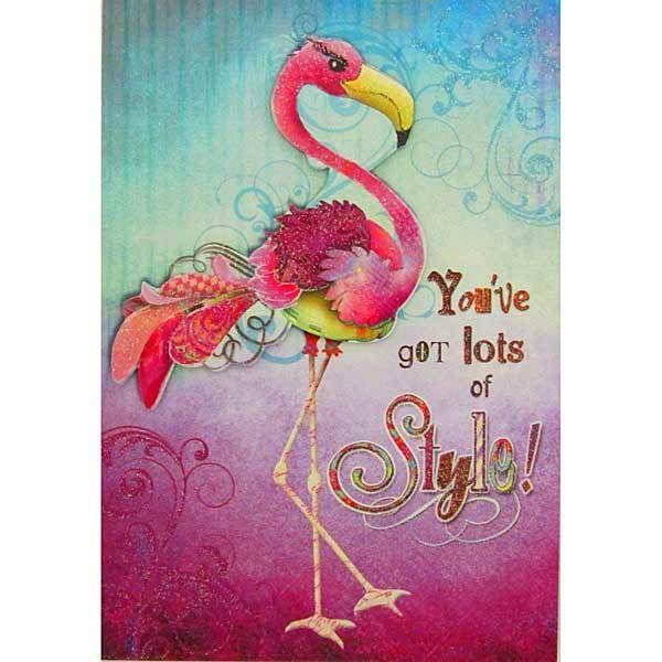 Картинки с днем рождения розовый фламинго