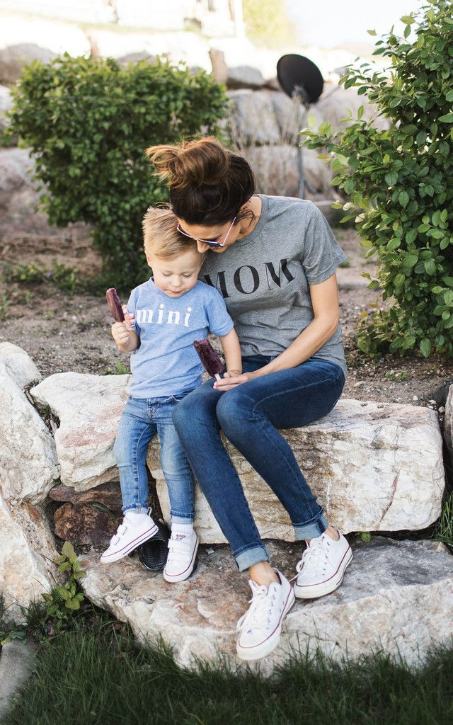 MOM Tee + Mini Tee! Adorbs. tees by: ILY COUTURE ilycouture.com #mothersday