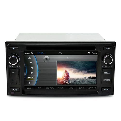 CASKA 6.2 Inch HD Digital Touch Screen Car DVD Player 2 Din Car PC Stereo Head Unit In-Dash System GPS Navigation+Bluetooth+Radio+Multimedia for Toyota Universal Models