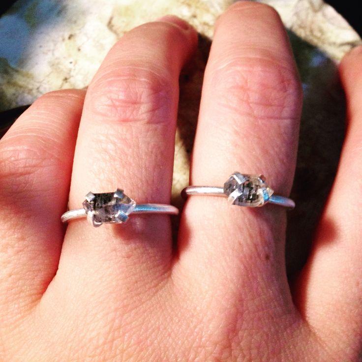 Ring sterling silver and tibetam quartz