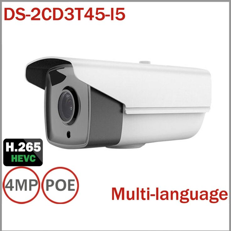140.06$  Buy here - http://alima6.worldwells.pw/go.php?t=32758240929 - DS-2CD3T45-I5 Full HD 4MP Bullet Camera Support H.265 HEVC POE IP CCTV Camera For Home Seurity 50M IR Range Support NVR 140.06$