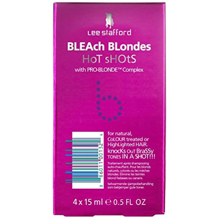 Lee Stafford Bleach Blondes Hot Shots With Pro-Blonde Complex 4 x 15ml -- Check out the image by visiting the link. (This is an affiliate link and I receive a commission for the sales)