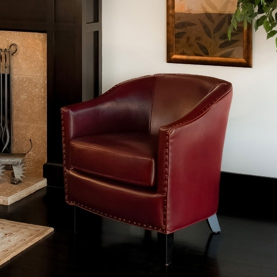 Burgundy Lounge Chair.