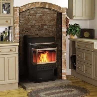 Round oak cast iron stove