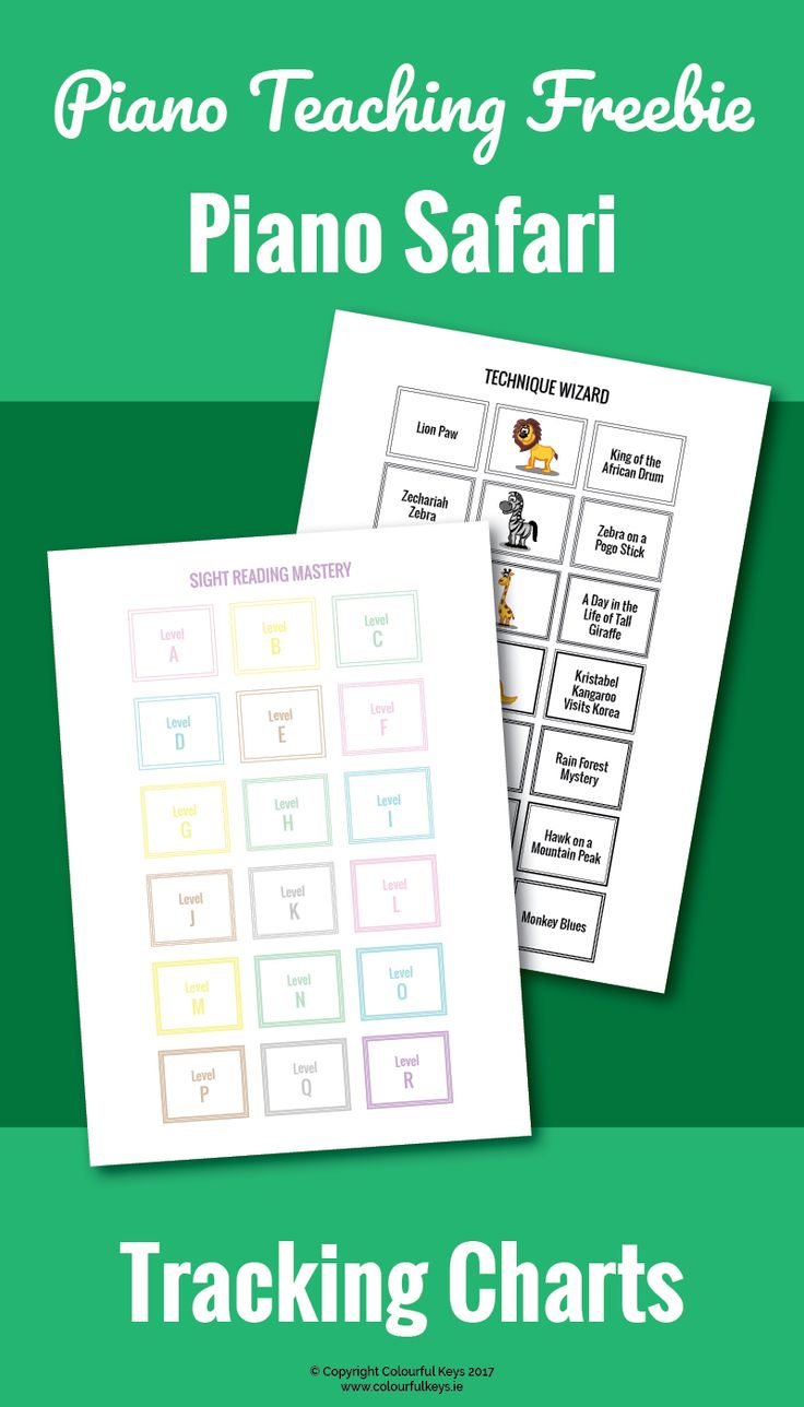 These free printable charts are great for any piano teacher using the Piano Safari series for sight reading and technique. https://colourfulkeys.ie/the-best-technique-and-sight-reading-resources-for-piano-teachers/