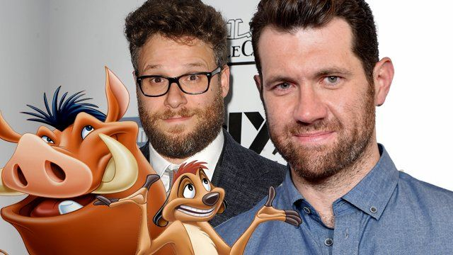 Billy Eichner and Seth Rogen Set as The Lion Kings Timon and Pumbaa   Billy Eichner and Seth Rogen have reportedly entered final negotiations to play Timon and Pumbaa!  The worlds most famous warthog and meerkat duo are headed back to the big screen in 2019. Walt Disney Picturestoday confirmed that Jon Favreaus live action The Lion King movie will hit the big screen July 19 2019. NowThe Wrap is reporting that Billy Eichner and Seth Rogen have entered final negotiations to play Timon and…
