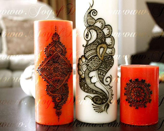Henna candles by Joy of Henna by Joy of Henna, via Flickr