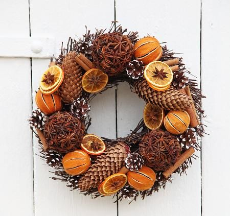 Star Anise and Orange Wreath - £45.00 : Potpourri                                                                                                                                                                                 More