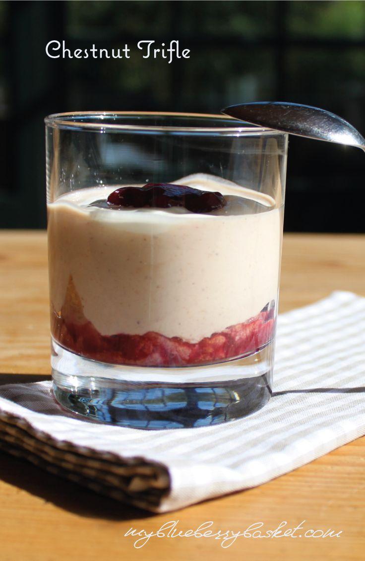 Chestnut Trifle. Super easy and quick dessert. http://www.myblueberrybasket.com/en/blueberry-chestnut-trifle/