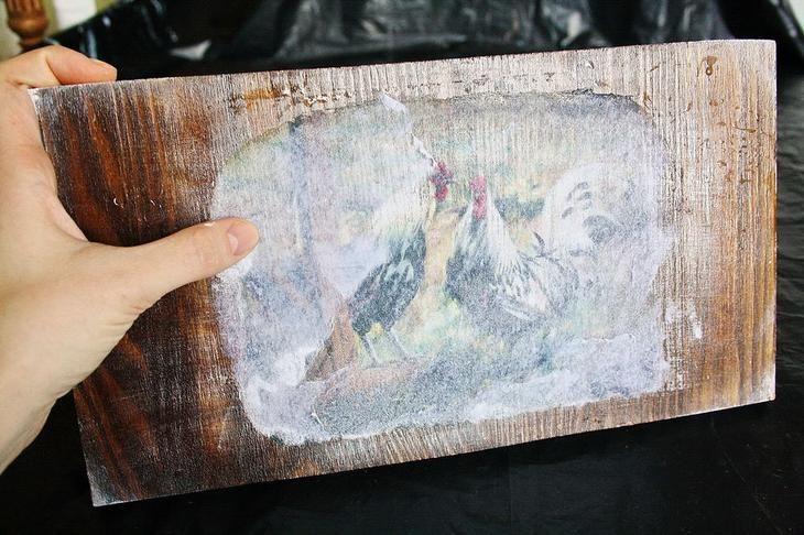 Необычное панно в кантри-стиле «Деревенские истории»