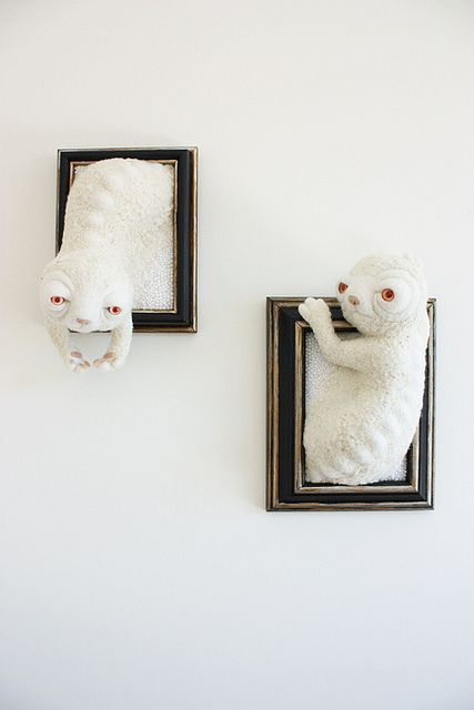 Milk and Chalk: picture frame monsters by Zoe Williams (exzerothree), via Flickr