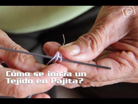 Cómo se inicia un Tejido en Pajita? - YouTube