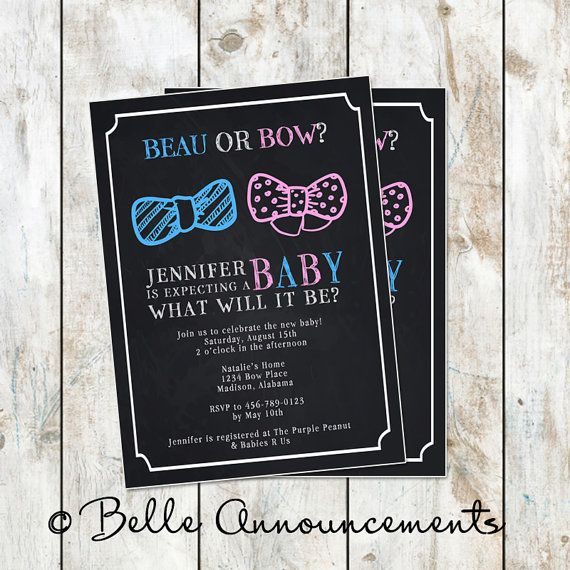 84 best images about gender reveal party on pinterest | football, Baby shower invitations