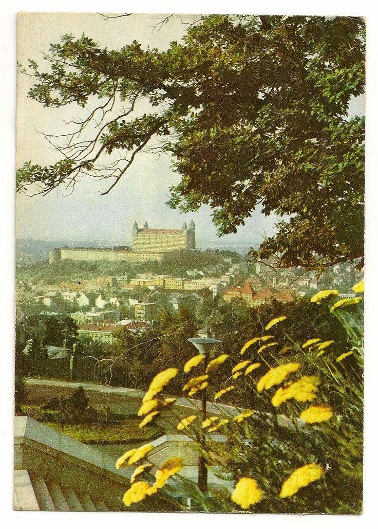 stamp and postcard: The look of Bratislava 2.17.circa 1970 hrad