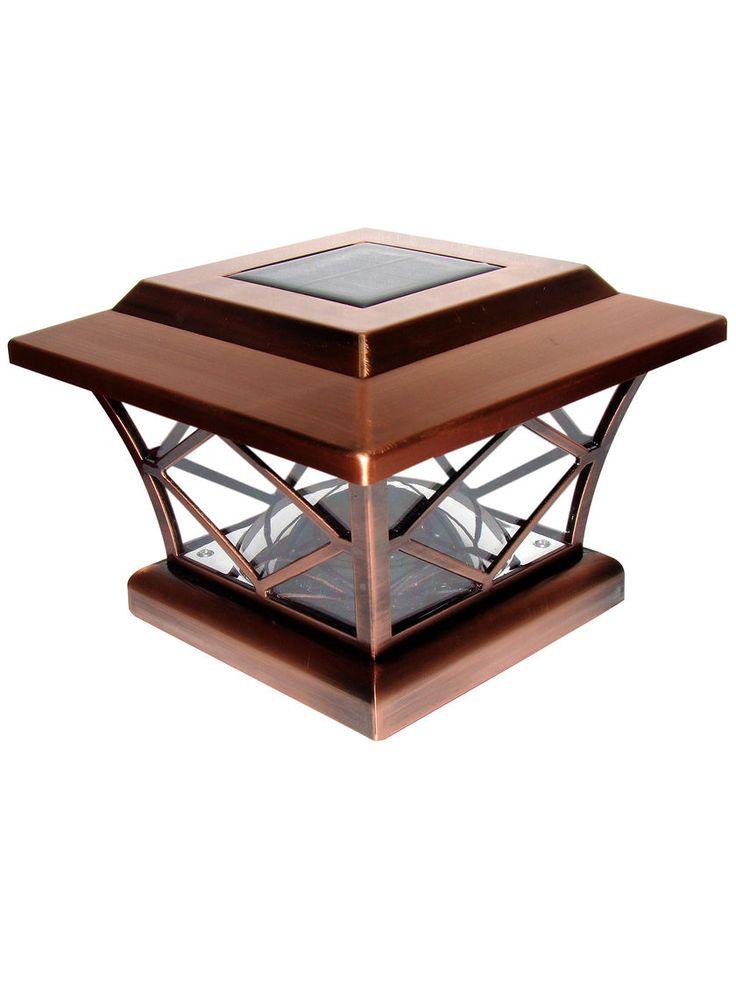 $40 retail - Craftsman-Style Solar Post Cap Light