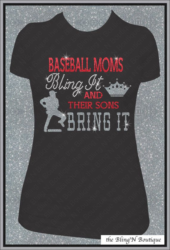 Baseball Moms Bling It and Their Sons Bring by TheBlingNBoutique