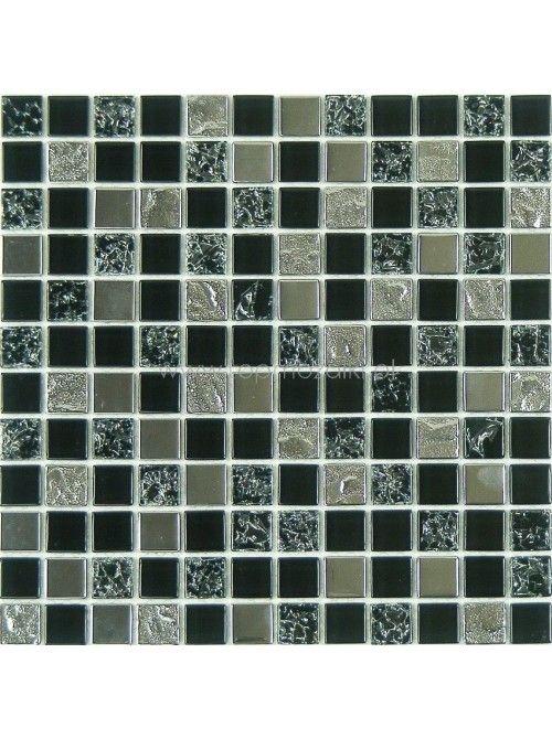 Glamour glass mosaic dark lava