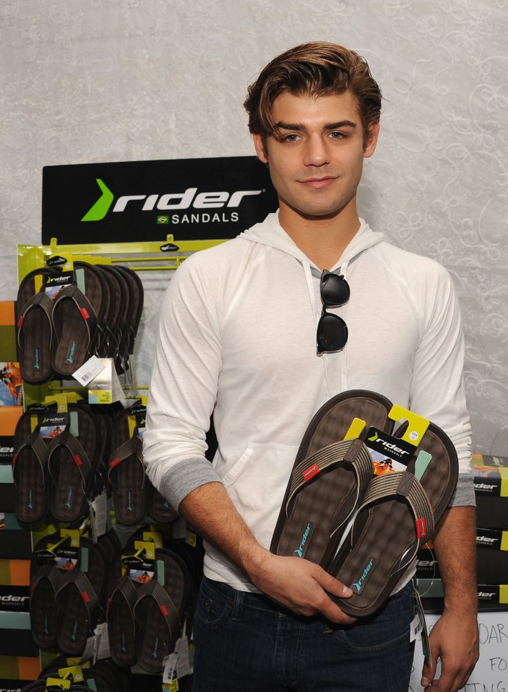 Garrett Clayton from Teen Beach Movie is all set to rock his Rider Sandals post-workout! #TeenChoiceAwards #RiderSandals