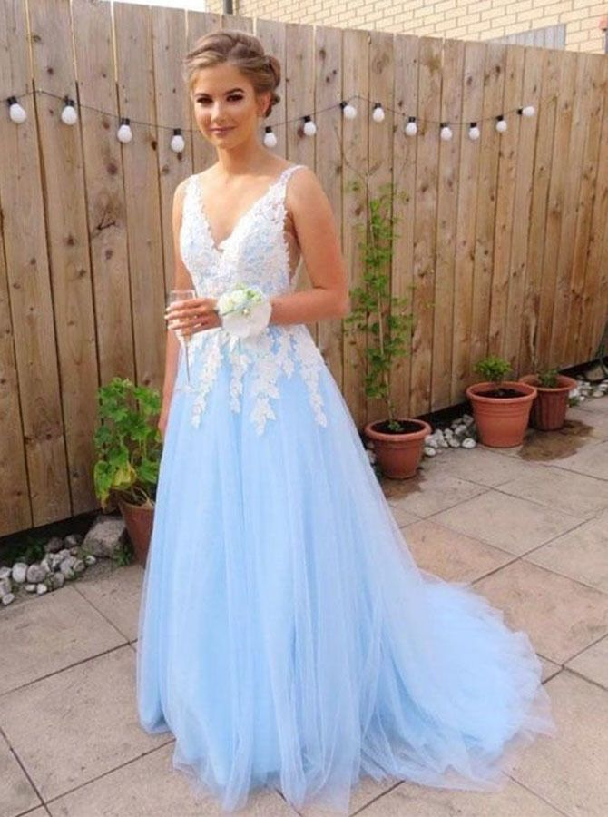 3976d2cd7b SkyBlue Prom Dresses,Tulle Prom Dress Long,Elegant Prom Dresses For  Teens,11257