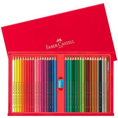Coffret bois crayons aquarellables Faber Castell