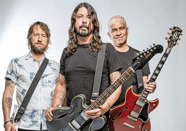 "Foo Fighters Dave Grohl, Chris Shiflett and Pat Smear Talk New Album, 'Concrete and Gold'  ||  It's just after nine a.m. in Los Angeles when Guitar World catches up with Dave Grohl, who has already been moving at full speed for hours. ""Dude, lemme tell you,"" he says with mock exasperation. ""My morning starts…at night. Like, it's already the afternoon for me!""…"