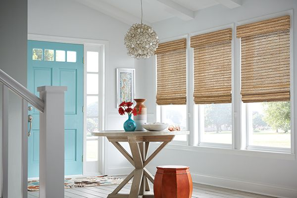 Graber Blinds Roman Natural Shades with Cordless Lift: Merino, Belize 55508