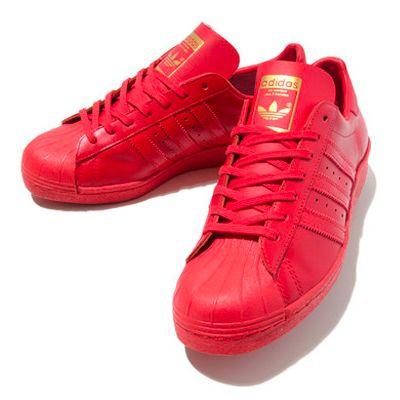 adidas superstar rosse e oro