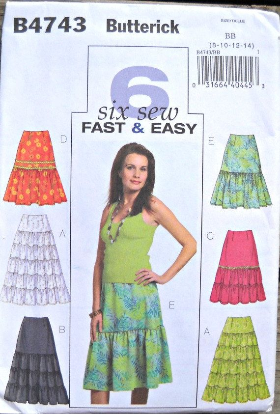 Butterick B4743 Womens Skirt Pattern Sizes 8 by CurlicueCreations, $9.99