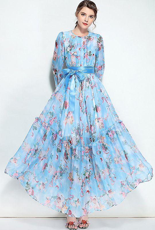 Chiffon maxi dress pinterest