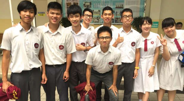 YOU CAN'T IGNORE THE MIRACLE OF CHRISTIANITY IN CHINA  -  A group of youth from Wing Kwong Church in Hong Kong.