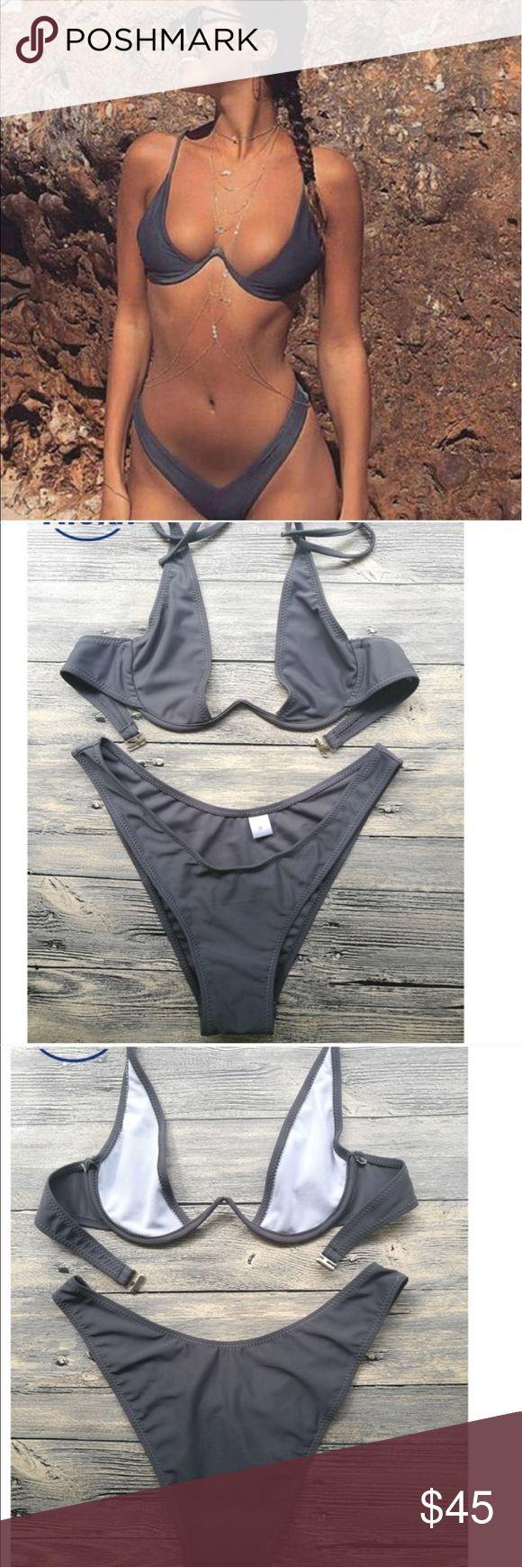 Gray Brazilian bikini Gray Swim Bikinis