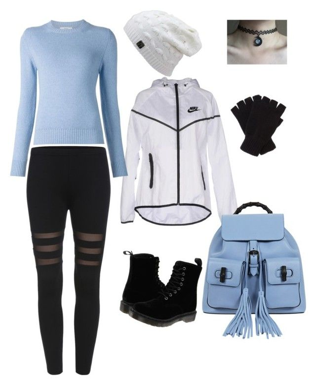 """Autumn cool"" by taniaangell on Polyvore featuring Dr. Martens, NIKE, Gucci, Barrie and Johnstons"