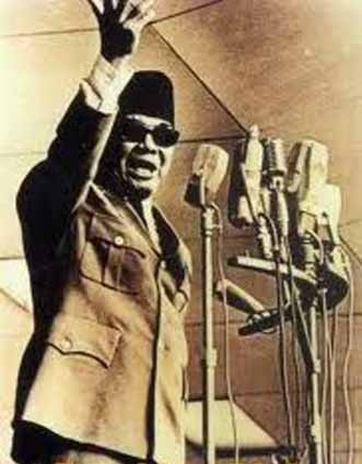 Ir. soekarno, the first president of Indonesia