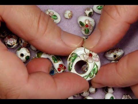 Jewellry making: Cloisonné Beads & Swarovski - Smyckestillverkning