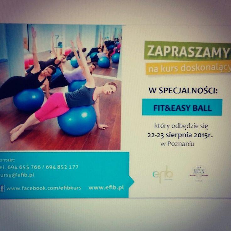 Już w ten weekend zapraszamy :) #fitball #piłki #fitness #skzoleniafitnessowe #wiedza #praktyka #dobrekursyefib