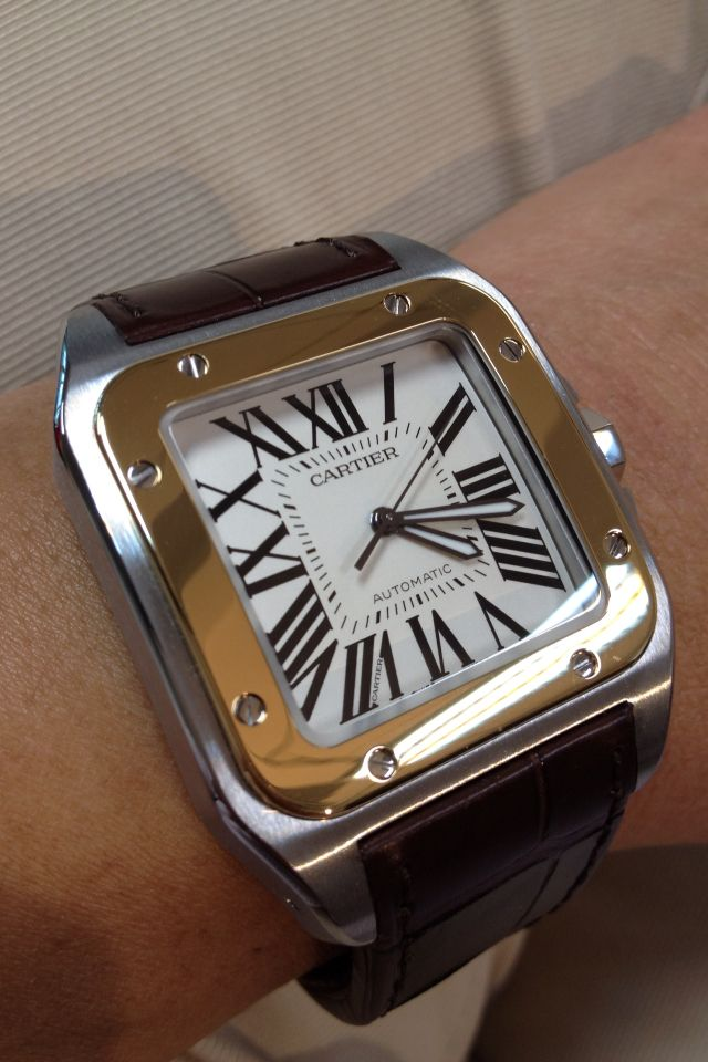 Cartier Santos 100 LM. The watch that inspired the Apple Watch.