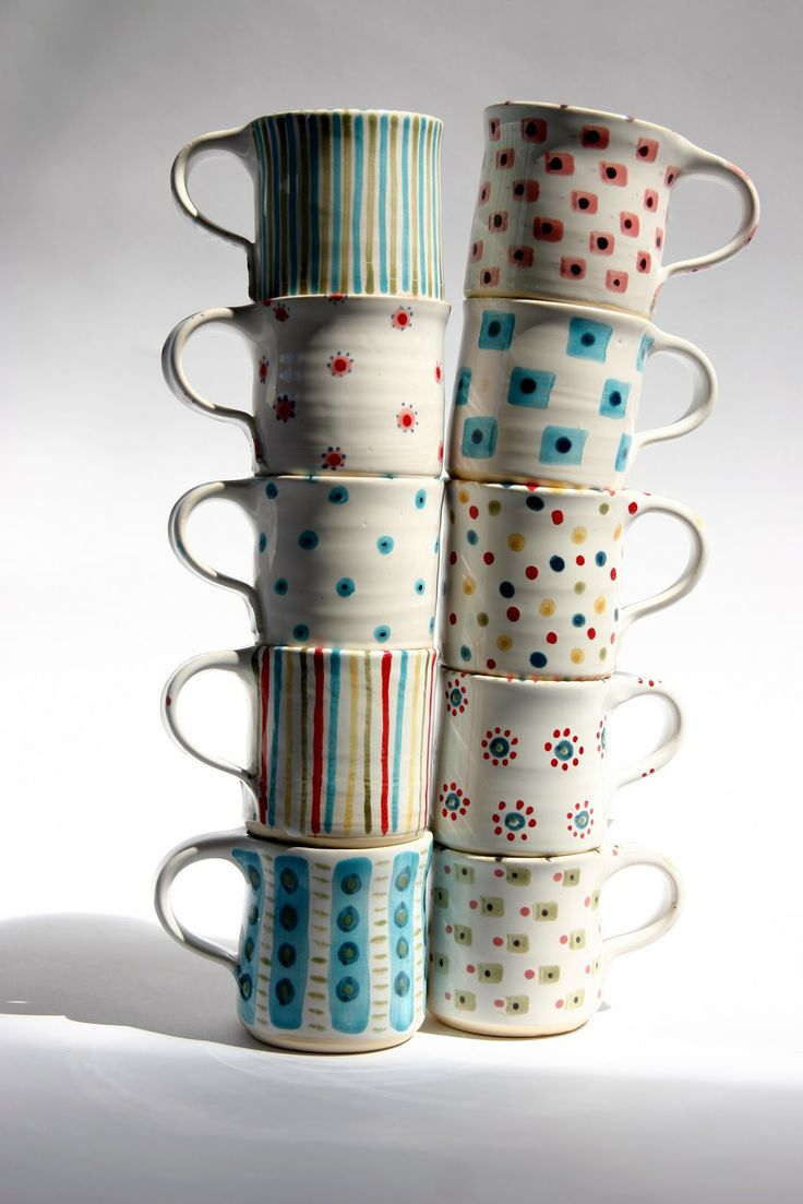 Ardmore Pottery & Gallery: mary lincoln - awww I want to drink all my future coffees in these mugs <3